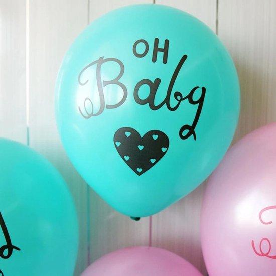Fabs World ballon Oh Baby petrol