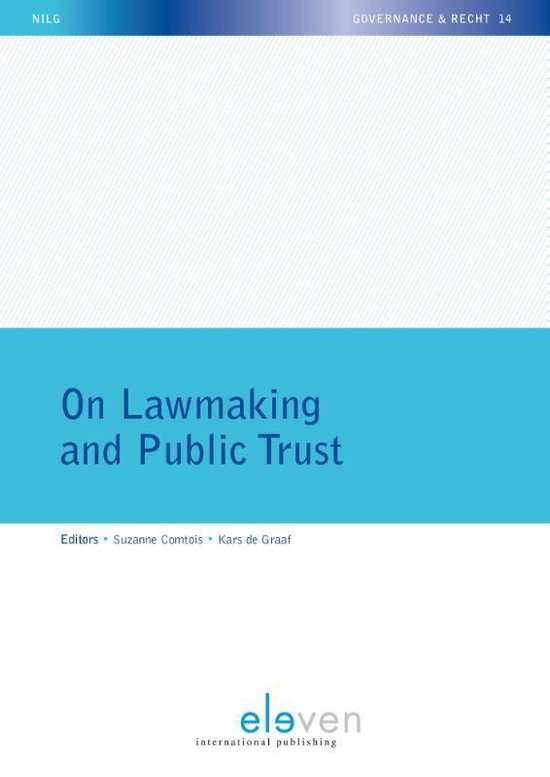 Boek cover On Lawmaking and Public Trust van Comtois, Suzanne (Paperback)