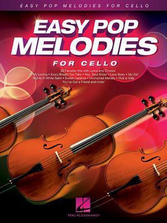 Boek cover Easy Pop Melodies - for Cello van Hal Leonard Corp. (Hardcover)