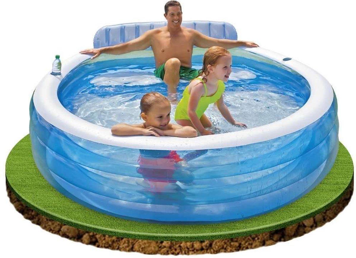 Intex Opblaasbaar Familie Lounge Zwembad met Bank (224x216x76cm) Intex