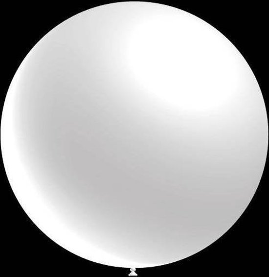 50 stuks - Decoratie ballon metallic wit 28 cm professionele kwaliteit