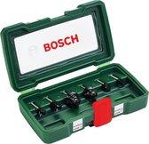 Bosch set HM-houtfrezen 6-delig - Diameter 6 mm