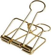 LPC Papierklem Binder wire - goud - 50 mm -20 stuks