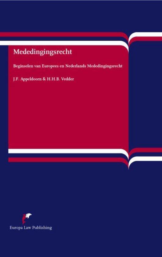 Mededingingsrecht - J.F. Appeldoorn |