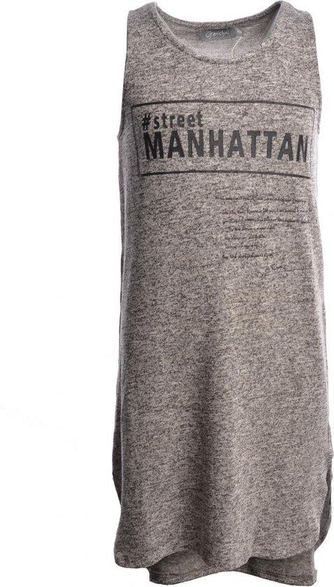 Geisha jeans Jurk mouwloos - grijs - 152