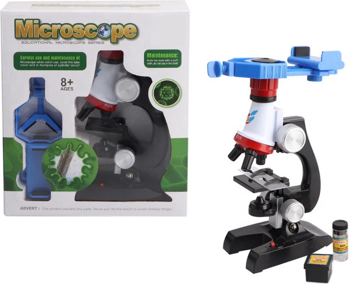 Speelgoed Kindermicroscoop 100X-450X - Microscoop voor kinderen - Laboratorium Educatief Speelgoed voor uw Kind - Kinder microscoop