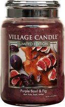 Village Candle Large Jar Purple Basil