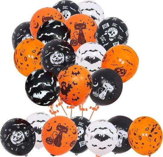 Halloween decoratie - 100 stuks x Halloween ballonnen - 30 cm
