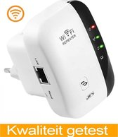 WiFi Versterker Stopcontact - Wifi Signaalversterker -Wifi repeater - Ethernet - Wireless Range Extender- 300 mbps - 2.4 Ghz – Wit