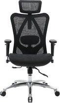 Ergotech® Ergonomische Bureaustoel Proline – 3D Verstelbaar Armsteun – Volledig Mesh Bekleding - Kantoorstoel, Vergaderstoel & Gaming stoel – Bureaustoel met Wieltjes - Zwart