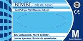 Bimel - Nitril Handschoen - Geschikt voor voeding, industrie, schoonmaak, Medisch, Anti-covid - LARGE - 100 stuks per doos