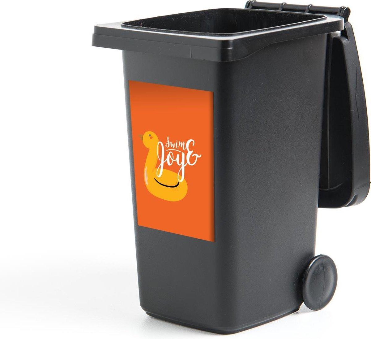 Container sticker Oranje - Geel - Zwemband - 40x60 cm - Kliko sticker
