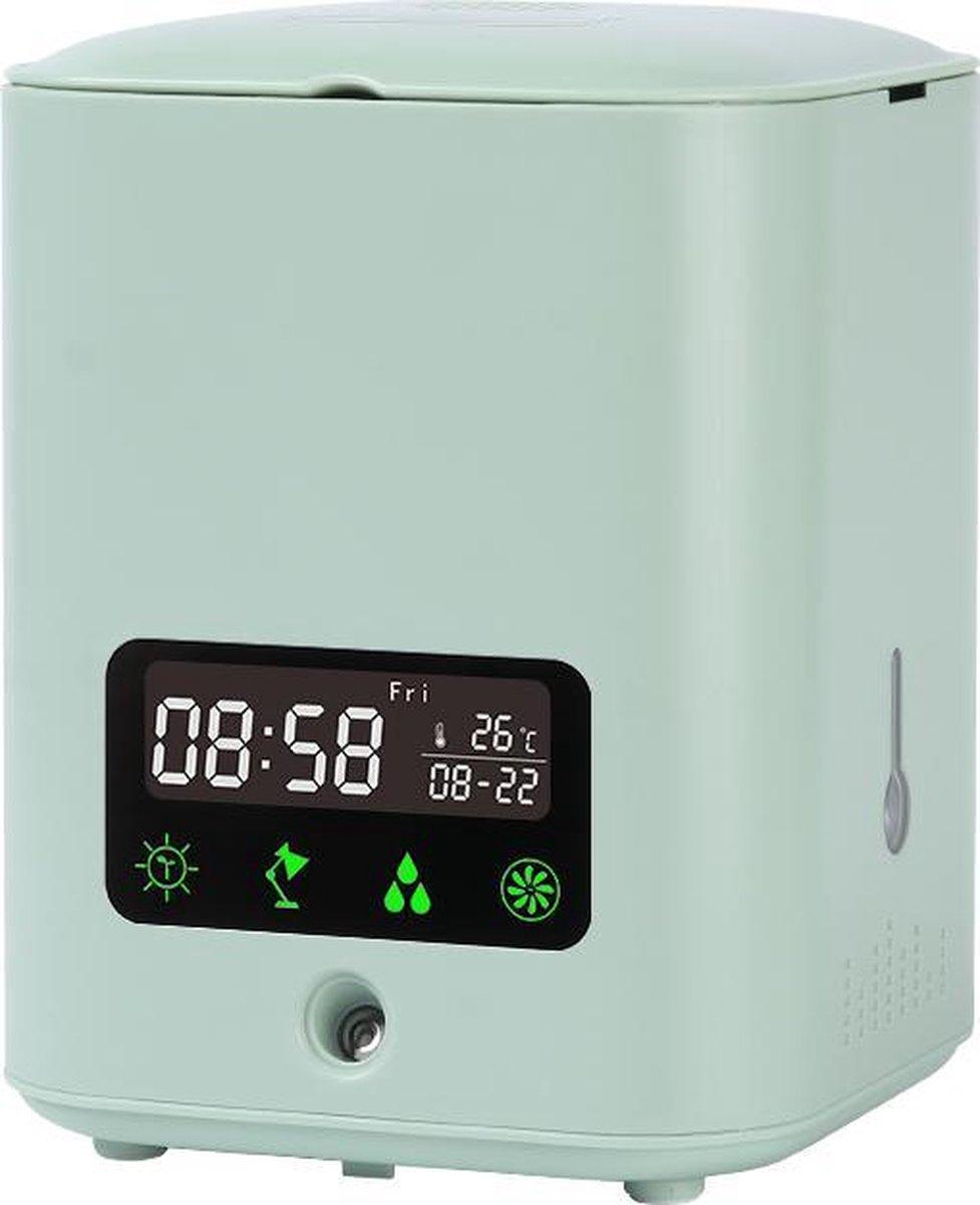 KATRIZ® Multifunctionele Smart Bloempot | Bloempot Binnen| Luchtbevochtiger | Luchtzuiverend | Plant Lichtbron | Bluetooth Speaker | Groen | 1 stuk