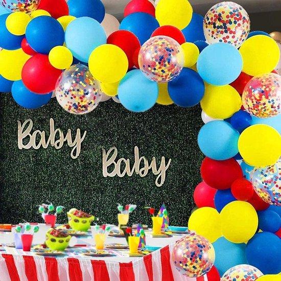 MagieQ Carnaval Circus Regenboog (Rood, Geel, Blauw)Papieren confetti ballonnenboog Feest Decoratie Versiering – Verjaardag - Helium, Latex, Folie & Papieren Confetti Ballonnen Boog - Paw Patrol