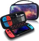 Best4u Tas voor Nintendo Switch/Switch OLED-model - draagtas opbergtas hoes case met 10 speelkaarthouders en bevestigingsriem voor Nintendo Switch console en accessoires, de Galaxie