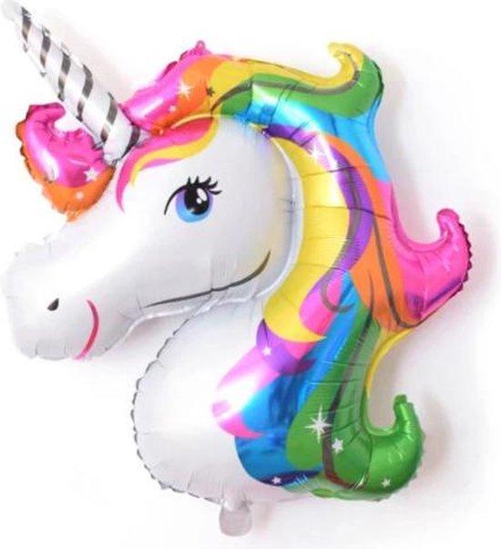 Unicorn Ballon - Kleur - XXL - 110cm - Folie Ballon - Eenhoorn - Paard - Versiering - Ballonnen - Verjaardag - Thema Feest - Helium ballon