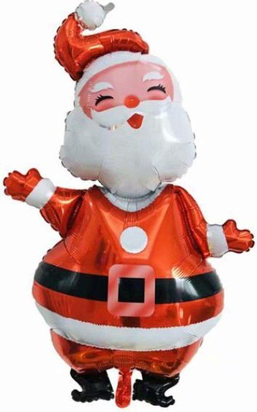 Kerstman Ballon - XXL - 120cm - Folie Ballon - Kerst - Winter - Versiering - Ballonnen - Kerstversiering - Thema Feest - Helium ballon - Leeg - Kerst Decoratie