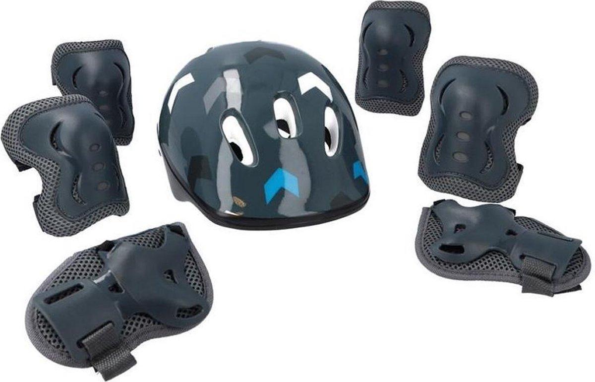 Rebel ZAB0123B Protection Set Boys - Step en skate valbescherming - grijs/blauw - voor kinderen