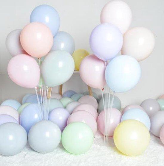 Premium Kwaliteit Latex Ballonnen, Macarons Pastel, 50 stuks, 12 inch (30cm), Verjaardag, Happy Birthday, Feest, Party, Wedding, Decoratie, Versiering, Miracle Shop