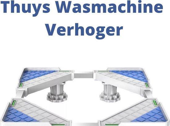 Thuys Wasmachine Verhoger - Trillingsdempers Wasmachine - Op Wielen - Wit