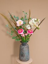 """Roselin Deco - kunstboeket """"Ranonkel roze""""- prachtige kunstbloemen"""