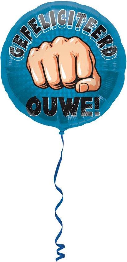 Folat - Folieballon - Gefeliciteerd ouwe - 45cm