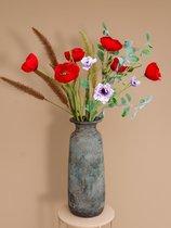 """Roselin Deco - kunstboeket  """"Klaproos"""" - prachtige kunstbloemen"""