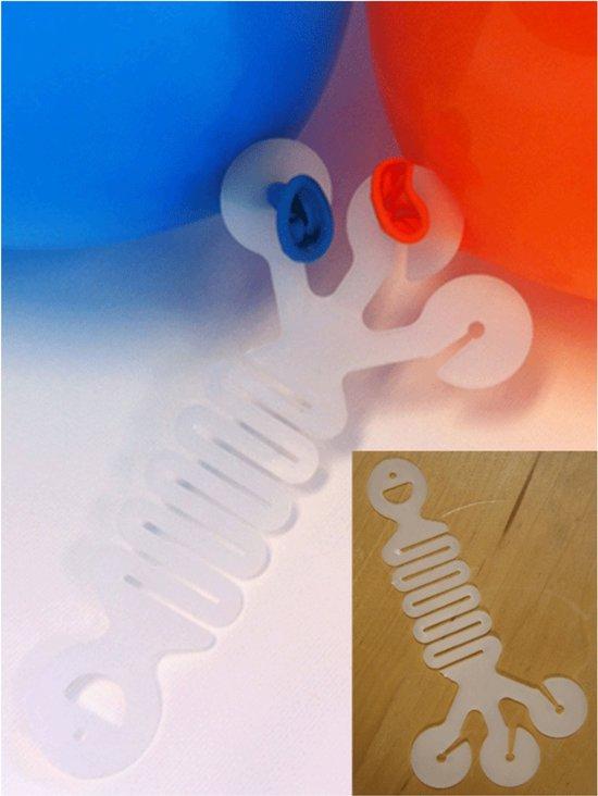 6x Hoekhanger voor drie ballonnen - Feestversiering accessoires ballonhangers