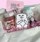 Soul in Japan Middle Finger Cat Airpod hoesje