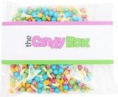 The candy box snoep snoepzakjes - Frutie tutie  -  Halal & Vegie- Fruit Blast Snoep - Gevuld met 300 gram snoep mix