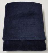 little feet-baby winter dekentje 100 x 75 – marine donkerblauw wellness fleece