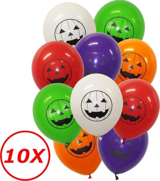 Halloween Versiering Decoratie Helium Ballonnen Feest Versiering Halloween Accessoires Ballon Mix Pompoen – 10 Stuks