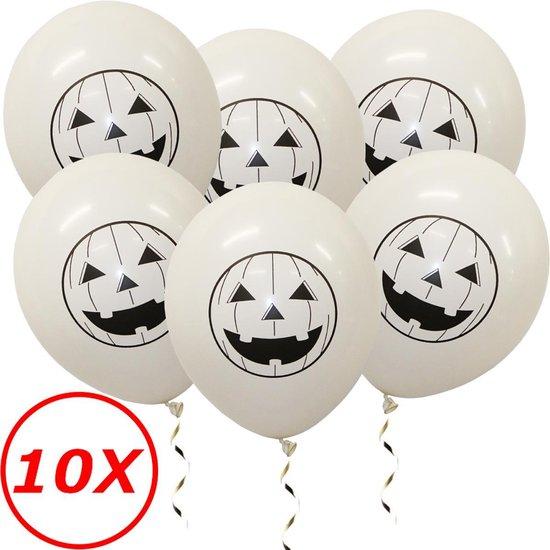 Halloween Versiering Decoratie Helium Ballonnen Feest Versiering Halloween Accessoires Ballon Wit Pompoen – 10 Stuks