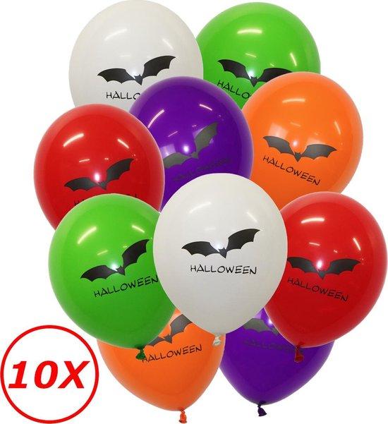Halloween Versiering Decoratie Helium Ballonnen Feest Versiering Halloween Accessoires Ballon Mix Vleermuis – 10 Stuks