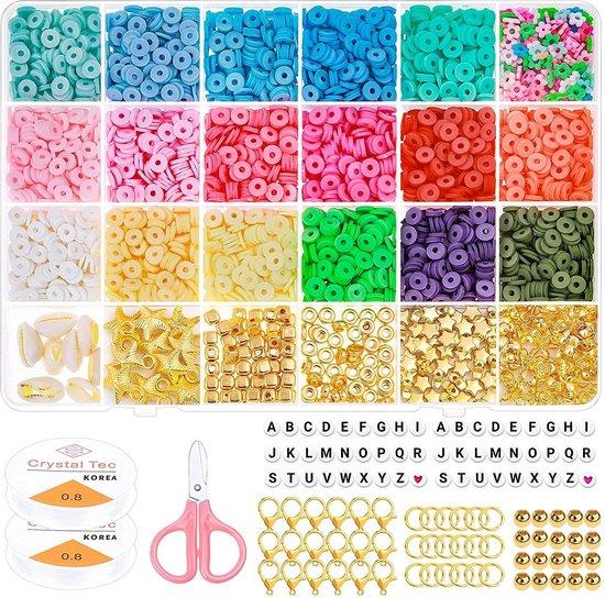 Luxe Katsuki Platte Kralen Set 5080 stuks– Kralendoos / Sieraden Maken Starterspakket – Kralen/Sorteerdoos met Vakjes
