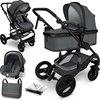 Sens Design Kinderwagen 3 in 1 - met luiertas - Antraciet/Zwart