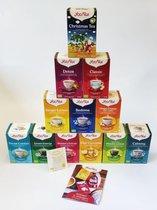 Yogi Tea top 12 - bestsellers - 12 verschillende smaken - Tijdelijk met Christmas Tea! - 12 pakjes x 17 theezakjes - incl. gratis Yogi Tea Brochure en een gratis thee buideltje.