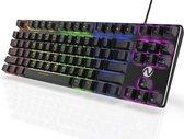 Nexibo® Mechanisch Gaming Toetsenbord - Mechanical Game Keyboard - Rode Switches - 33 LED Lichtmodus