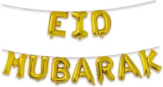 Folieballon Eid Mubarak - Goud