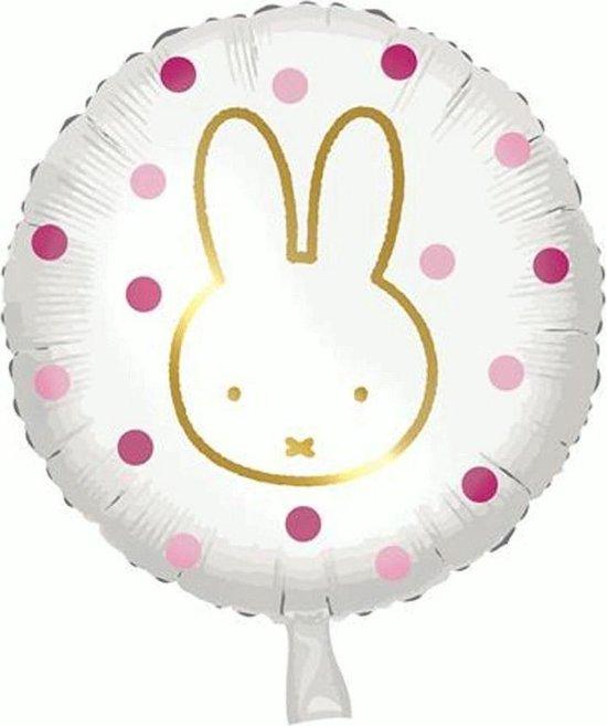 Folieballon Nijntje Roze Stippen
