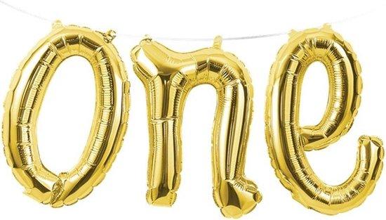Folieballon 'One' Goud