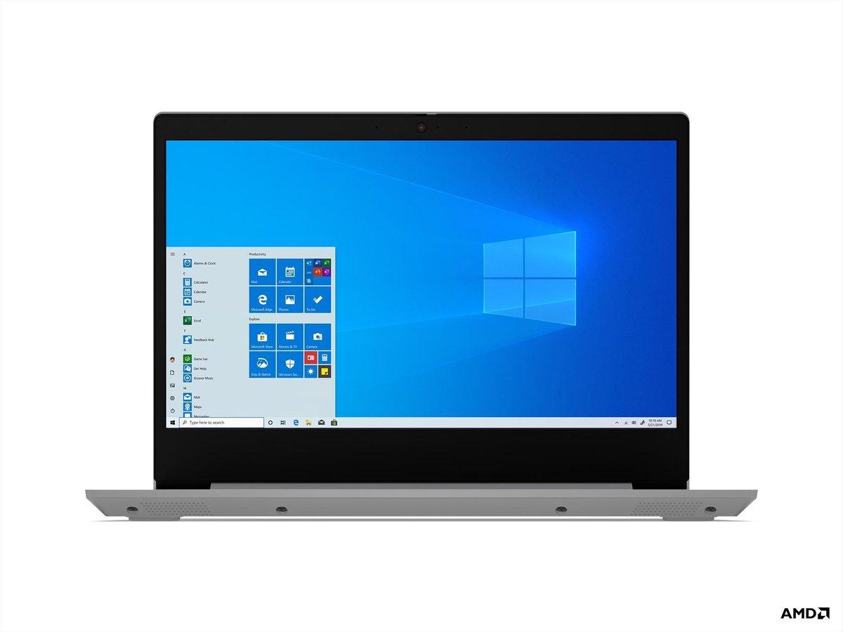 "Lenovo IdeaPad 3 Notebook 35,6 cm (14"") 1920 x 1080 Pixels AMD Ryzen 7 8 GB DDR4-SDRAM 512 GB SSD Wi-Fi 5 (802.11ac) Windows 10 Home Platina, Zilver"