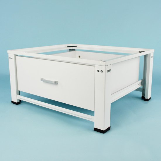 Wasmachine verhoger Paul, verstelbaar model met houten lade