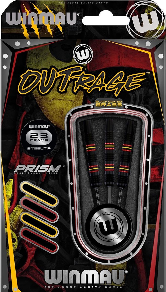 Winmau Outrage 2 Brass - 23 Gram