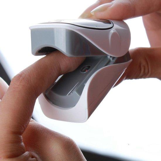 Zuurstofmeter- Pulse oximeter - Digitale saturatiemeter - Zuurstofmeter vinger- Grijs, inclusief beschermhoes