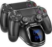 Dubbel Dock Lader Voor Controller voor: PS4 - PS4 Slim - PS4 Pro - Charger - Laadstation - Oplaadstation Dual Oplader Playstation 4 Controllerntroller - Dual Charger PS4 lader met USB kabel