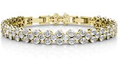 Yolora dames armband met Kalpa Camaka kristal - 18K Witgoud vergulde armband - YO-B016-YG-CC