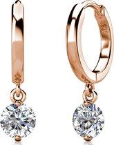 Yolora dames oorbellen met Swarovski kristal - 18K Witgoud vergulde oorbellen - 925 sterling silver - YO-E082-RG-CC
