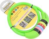 Stahlex Ø10mm / 65cm kabelslot schlechts 230g met cijferslot | Het eerste fietsslot voor uw kind | Groen
