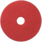 5 stuks vloerpad rood 17 inch 43 cm